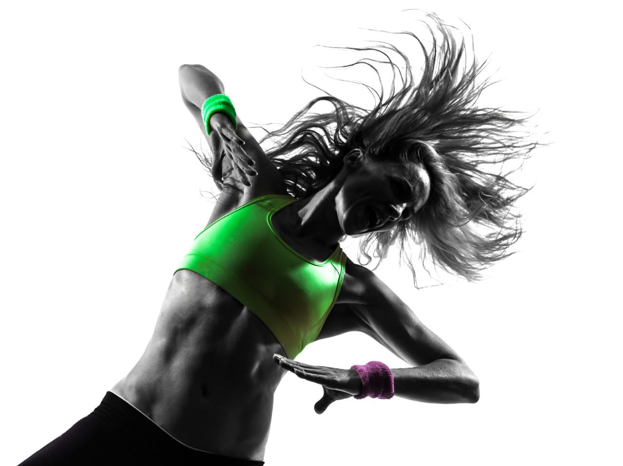 In shape and performing fitness exercise